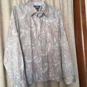 Woman's XL Chaps button- down shirt, blouse, top.